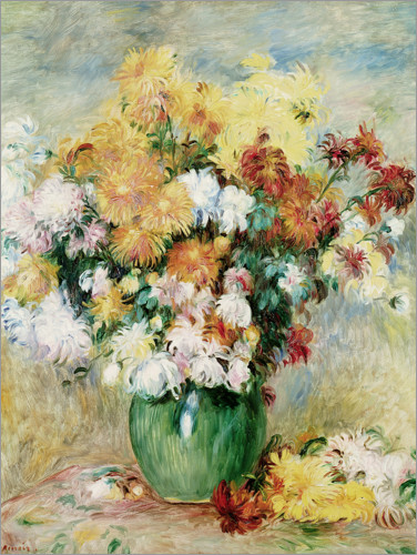 Premiumposter Bouquet of Chrysanthemums