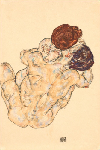 Poster Man and Woman, Embrace