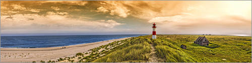 Premiumposter Elbows-on-Sylt in the evening glow