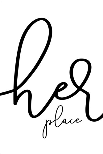 Premiumposter Her place