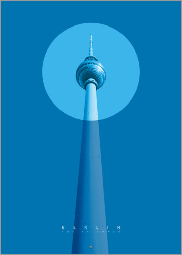 Premiumposter Berlin TV tower