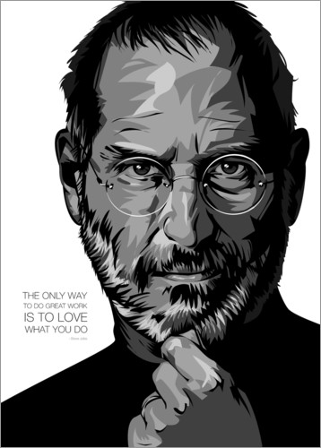 Premiumposter Steve Jobs