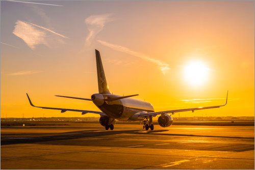 Premiumposter Airbus A320 NEO in the morning