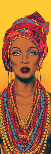 Premiumposter African woman
