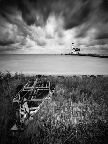 Premiumposter Lighthouse Marken in the Netherlands