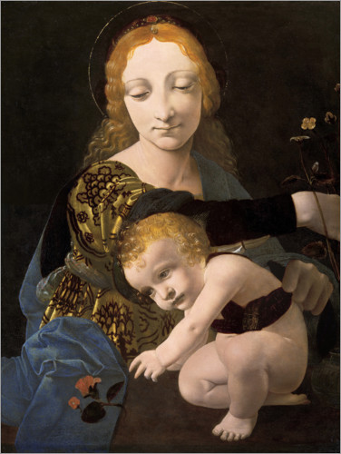 Premiumposter The Madonna of the Rose