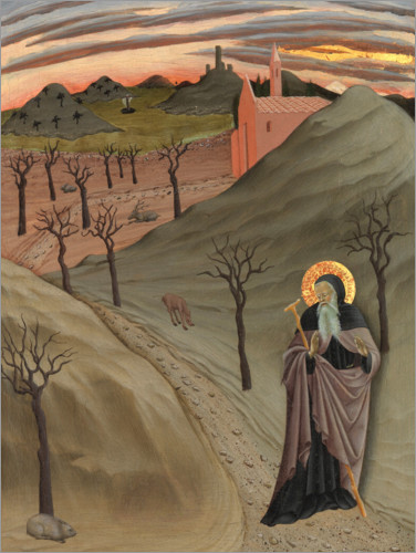 Premiumposter Saint Anthony the Abbot in the wilderness