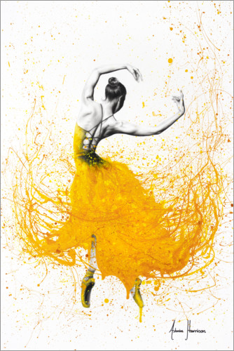 Premiumposter Daisy Yellow Dancer