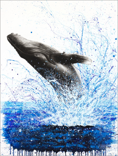 Premiumposter Whale Ocean Waves