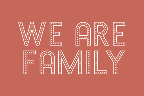 Premiumposter We are family