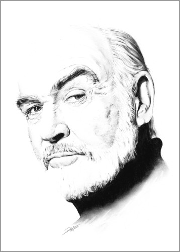 Poster Sean Connery Portrait Minimal