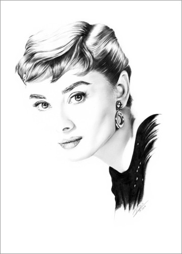 Poster Hollywood Diva - Audrey Hepburn
