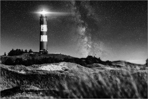 Poster Amrum Lighthouse with Milky Way