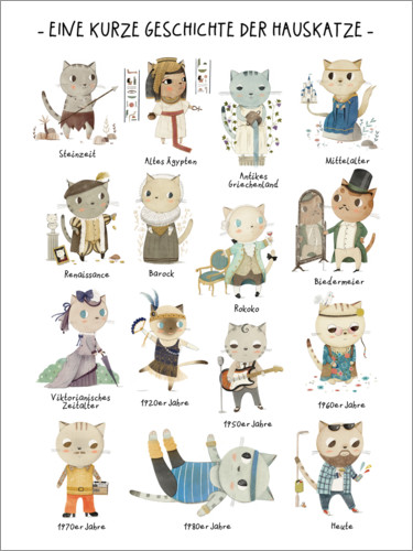 Poster A short story of the domestic cat
