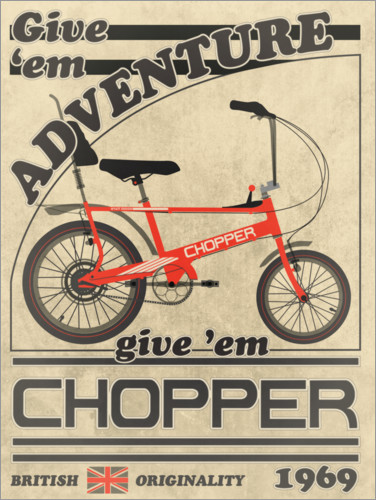 Premiumposter Chopper Bicycle 1969 Advertisement