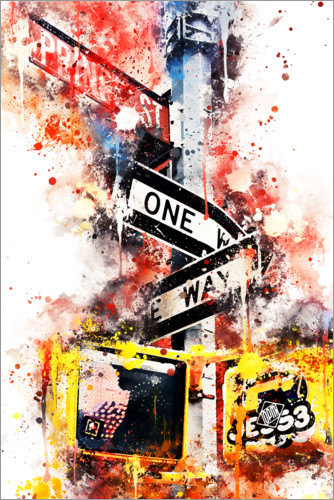 Premiumposter NYC One Way Street