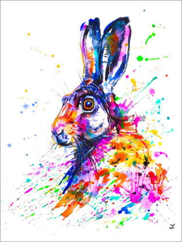 Premiumposter Hare in Grass
