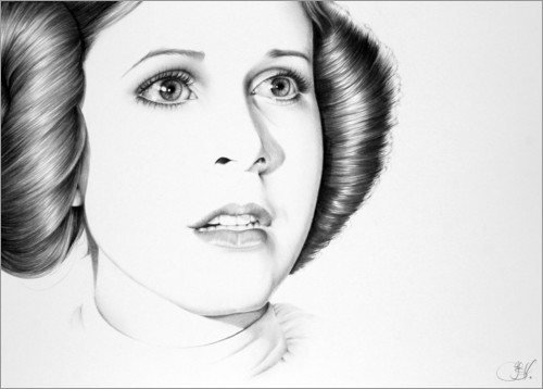 Premiumposter Carrie Fisher
