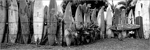 Premiumposter A fence made of surfboards II
