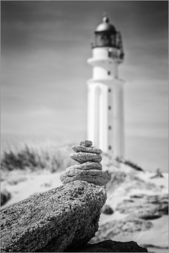 Premiumposter Lighthouse on the beach