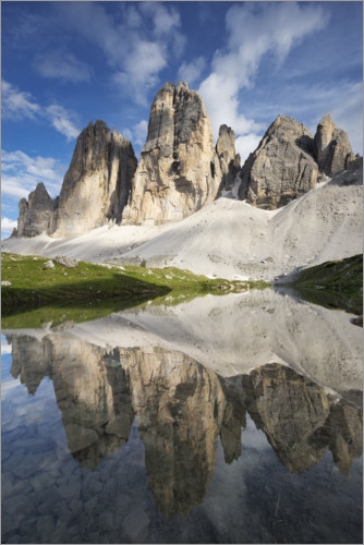 Premiumposter The Three Peaks in the Dolomites