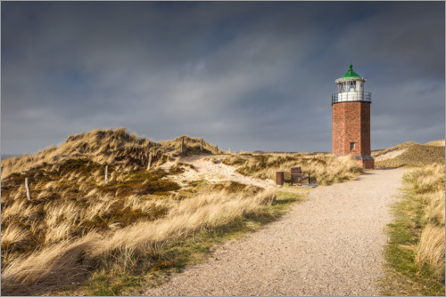 Premiumposter Lighthouse on the Red Cliff, Sylt
