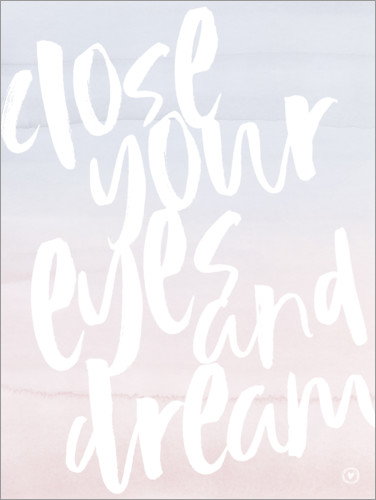 Premiumposter Close your eyes