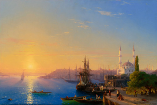Premiumposter View of Constantinople and the Bosphorus