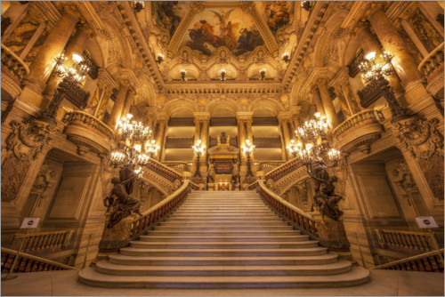 Premiumposter Staircase of the opera in Paris
