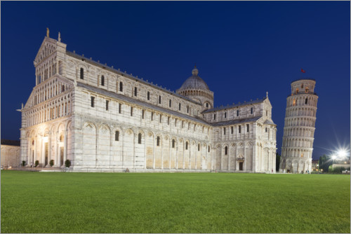 Premiumposter Cathedral and Leaning Tower of Pisa