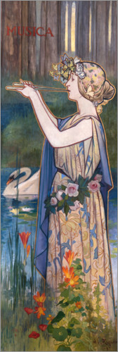 Premiumposter Allegory of music