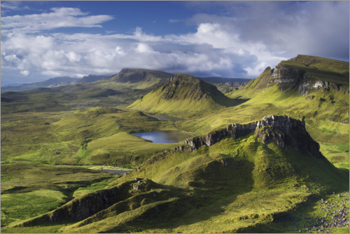 Premiumposter Highlands on the Isle of Skye in summer, Scotland