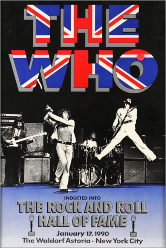 Premiumposter The Who - Hall of Fame