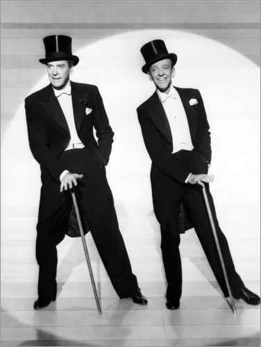 Premiumposter Jack Buchanan and Fred Astaire