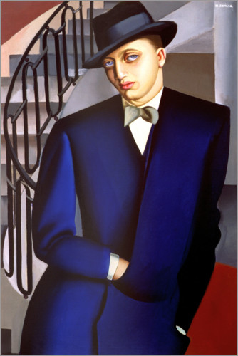 Premiumposter Portrait of the Marquis of Afflito on the staircase 1926