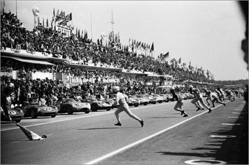 Premiumposter Start of the 24 Hours of Le Mans race, 1963