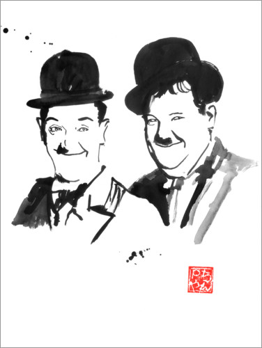 Premiumposter Laurel and Hardy