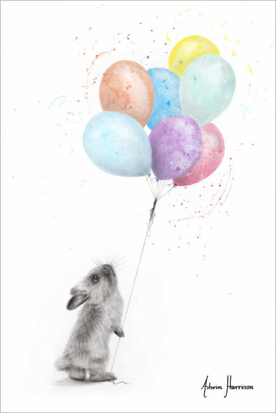 Premiumposter The Bunny and The Balloons