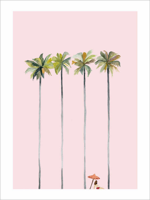 Premiumposter On the pink beach