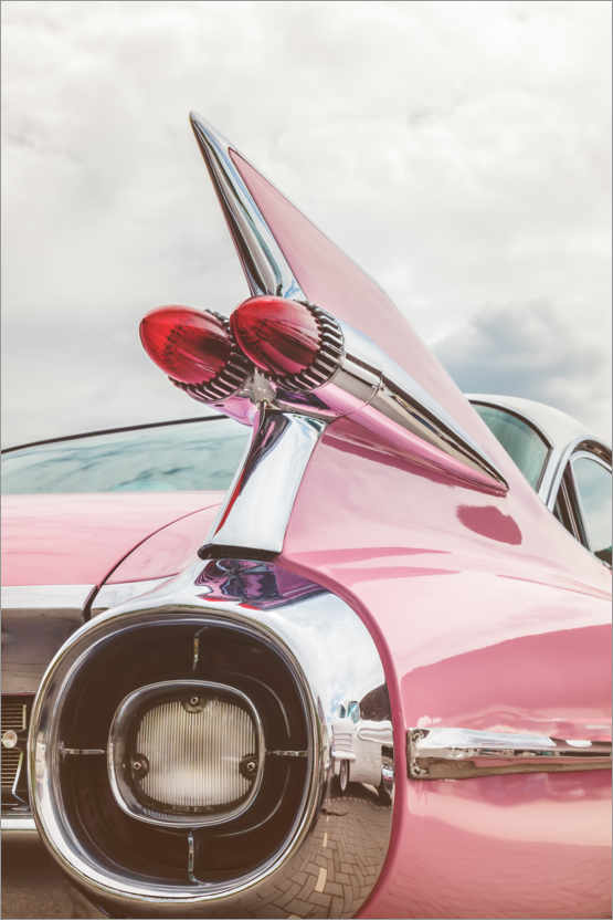 Premiumposter The pink American classic car