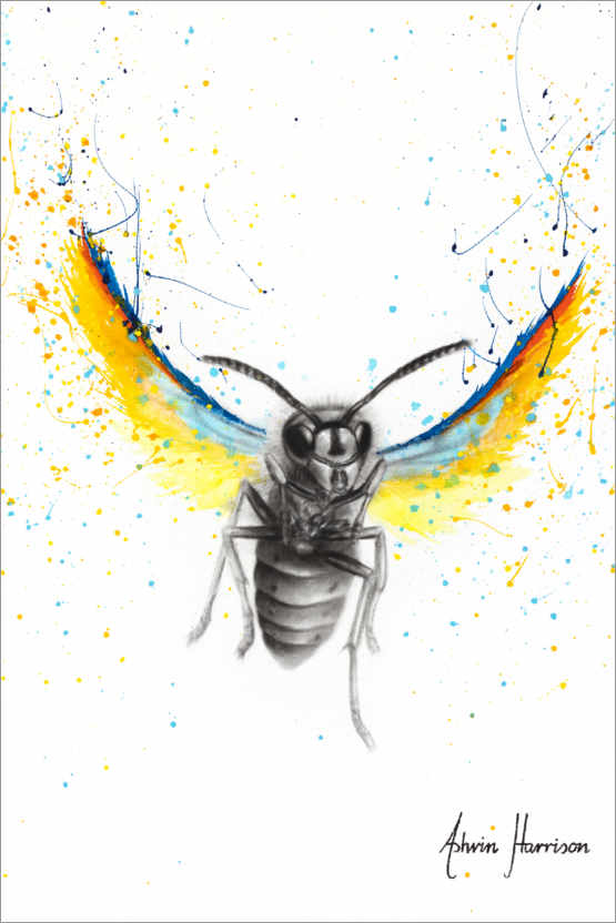 Premiumposter Brave busy bee