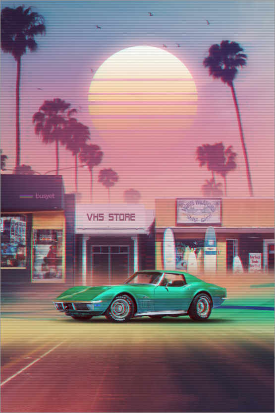 Premiumposter Synthwave Sunset Drive