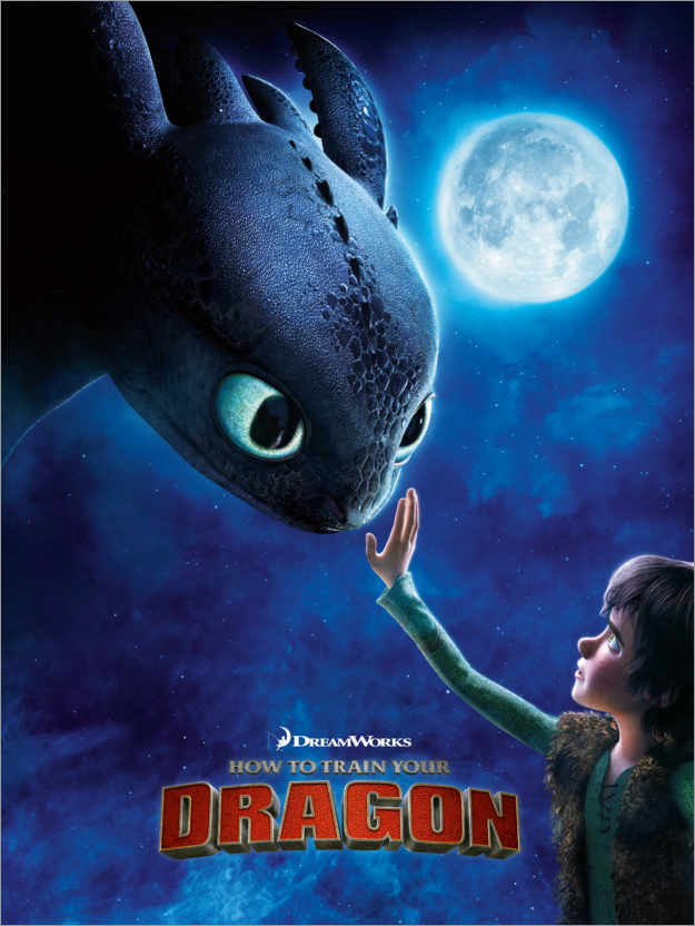 Premiumposter How to train your dragon