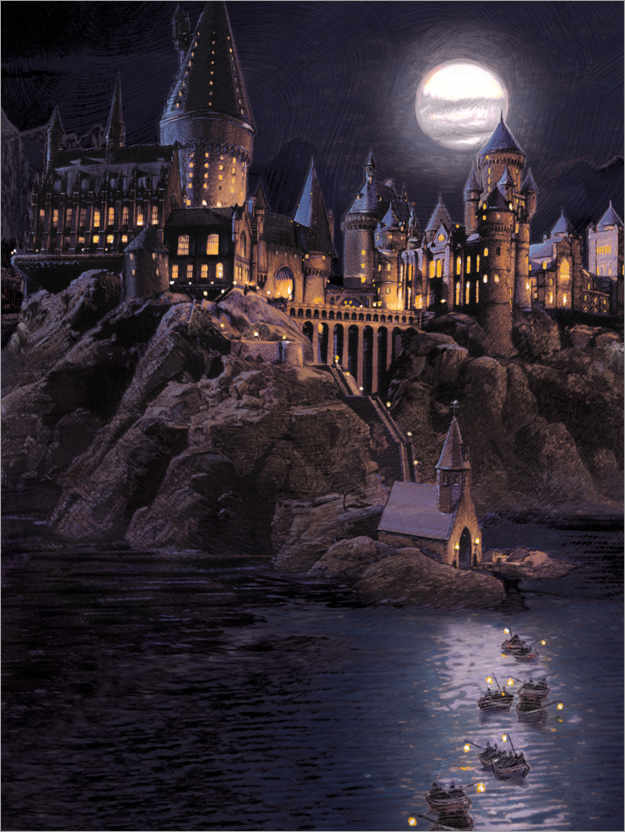 Premiumposter Harry Potter - Boats to Hogwarts
