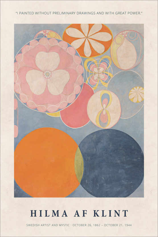 Premiumposter Hilma af Klint - With great power