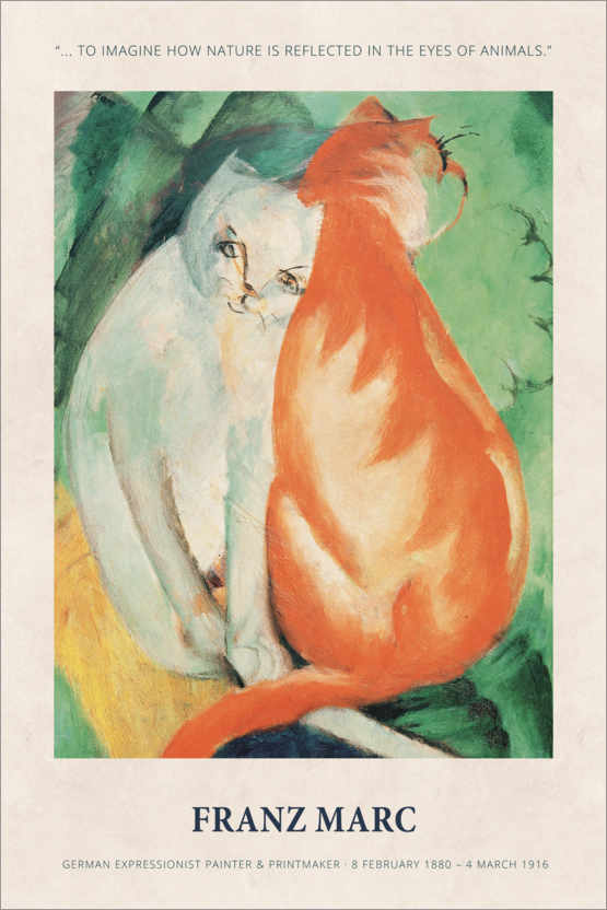 Premiumposter Franz Marc - In the eyes of animals