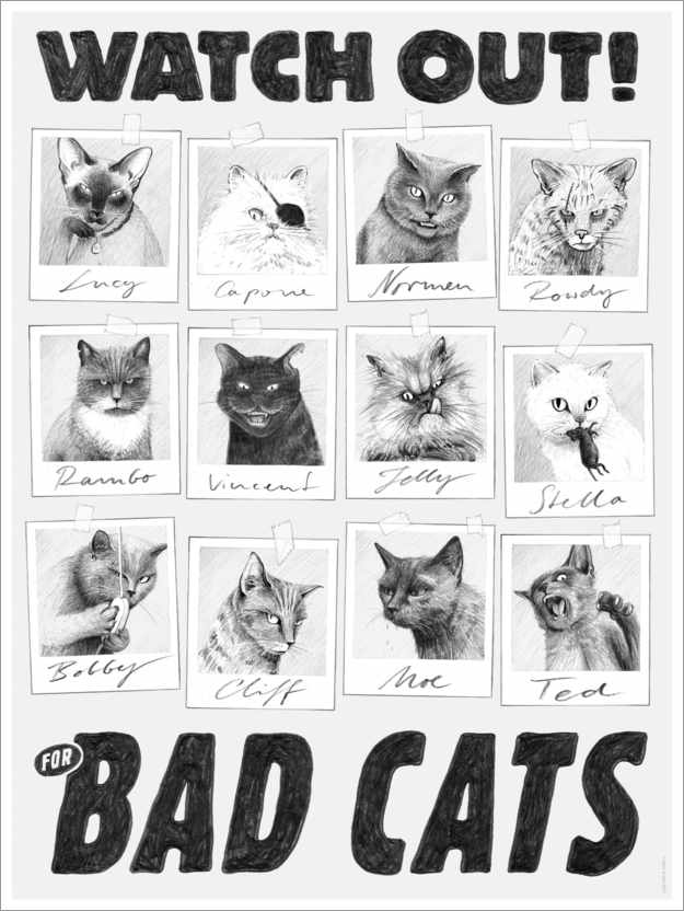 Premiumposter Watch out for bad cats