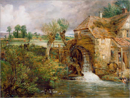 Galleritryck  Mill in Gillingham - John Constable