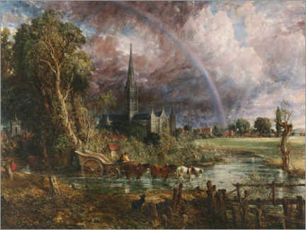 Premiumposter  Salisbury Cathedral - John Constable