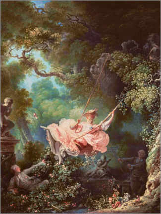 Akrylglastavla  The swing - Gungan - Jean-Honoré Fragonard